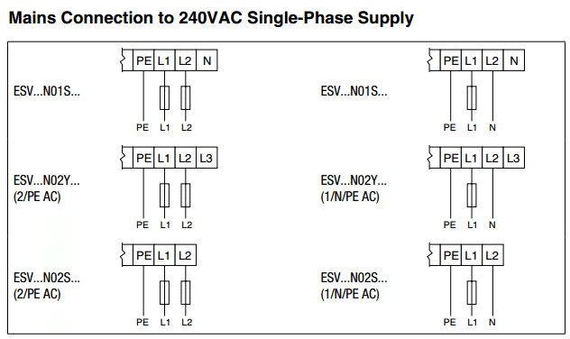 how to wire 240 volt single phase power to an smvector vfd 240 volt 12 lead 3 phase wiring diagram