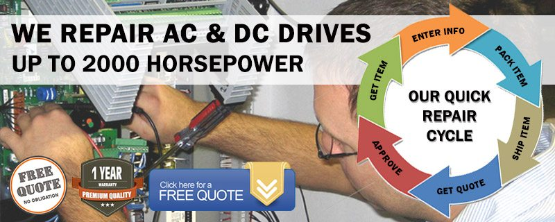 We Repair AC And DC Drives up to 2000 Horsepower
