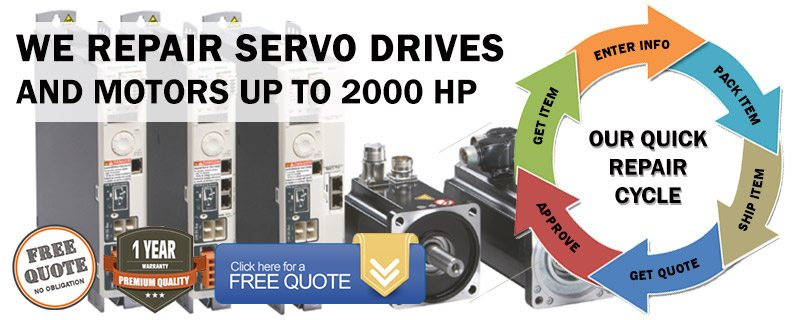 We Repair AC And DC Servo Drives And Motors up to 2000 HP