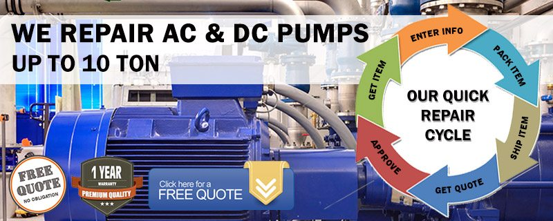 We Repair AC And DC Pumps up to 10 Ton