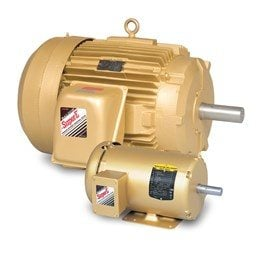 0.5 HP Baldor General Purpose Three Phase C-Face AC Motor | 230 / 460 VAC | 1.0 Amps @ 230 VAC | 56C Frame | TEFC | 60 Hz | 1800 RPM | VM3538